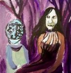 Purple Trees, Acrylic on Paper, 8in x 8in, 2013 Private Collection