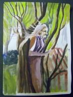 Doran Revival Tent, Watercolor on Paper2013