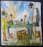 Yard Sale, Watercolor on Paper2013